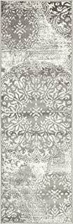 Unique Loom 3138679 Sofia Collection Traditional Vintage Beige Area Rug, 2' x 7' Runner, Gray