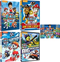 Paw Patrol: Ultimate Rescue 4 DVD Collection with Bonus Art Card (Marshall & Chase on the Case / Brave Heroes Big Rescues and More)