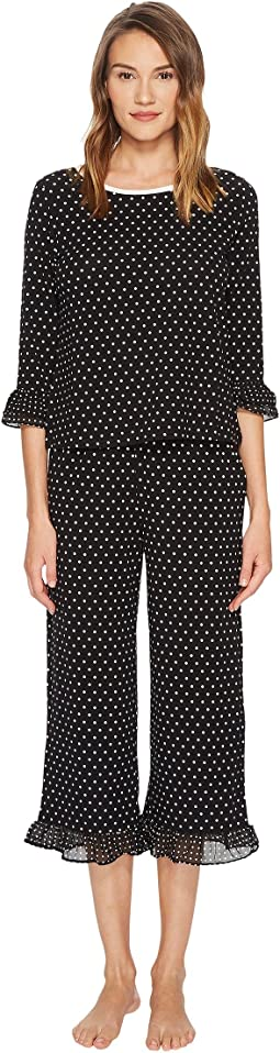 Kate Spade New York - Cropped Ruffle Pajama Set