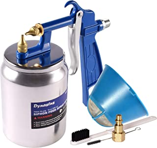 Dynastus K-Style Air Suction Feed Siphon Spray Gun for Spraying Oil-Based or Latex..
