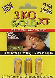 3 KO Gold XT 8250mg Male Sexual Performance Enhancer 5 Weeks Supply (1) Packs Total (3) Pills