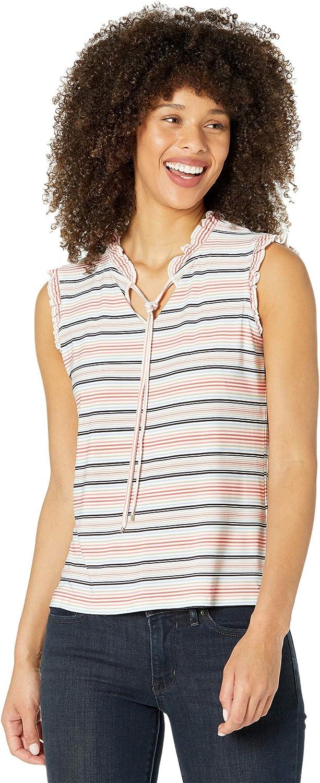 Tommy Hilfiger Women's Tie Neck Sleeveless-Knit Top