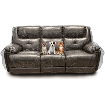 Besti Plastic Couch Cover for Pets – Clear Slipcovers for Sofa, Chair, Loveseat - Dust, Water, Dirt Furniture, Upholstery Protectors for Home, Living Room - Dog and Cat Scratch, Pee and Sit Deterrent