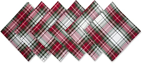 DII Christmas Plaid 100% Cotton Oversized Napkin for - Set of 6, 20x20
