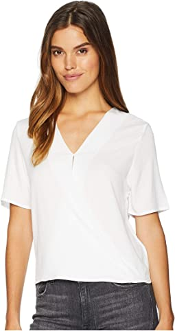 Rylie Rayon Short Sleeve Surplice Top