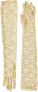 Women's Long Lace Sunscreen Gloves Vintage Floral for Summer UV Protection Wedding Party Driving