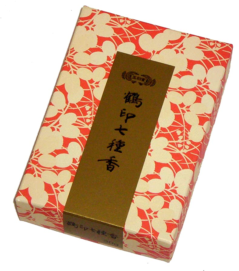 創始者タッチ構造的玉初堂のお香 鶴印七種香 30g #675