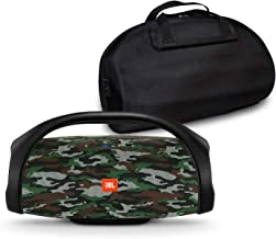 JBL Boombox Portable Bluetooth Waterproof Speaker Bundle with Hardshell Storage Case - Camouflage