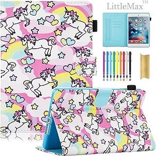 iPad Mini Case, LittleMax Ultra Slim PU Leather Lightweight Case Flip Folio Stand Smart Cover with Auto Wake/Sleep Feature for iPad Mini 1 / Mini 2 / Mini 3 / Mini 4-02 Rainbow Unicorn