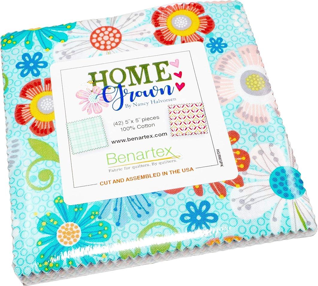 Nancy Halverson Home Grown 5X5 Pack 42 5-inch Squares Charm Pack Benartex