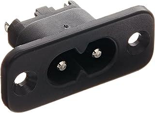 Interpower 83011500 IEC 60320 C8 Power Inlet, IEC 60320 C8 Socket Type, Black,
