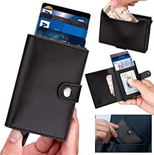 Wallets for Men - ID Theft Protection Series Premium Genuine Leather Slim Minimalist RFID Wallet with Credit Card Holder, ID Card Pocket and Additional Pockets for Cash