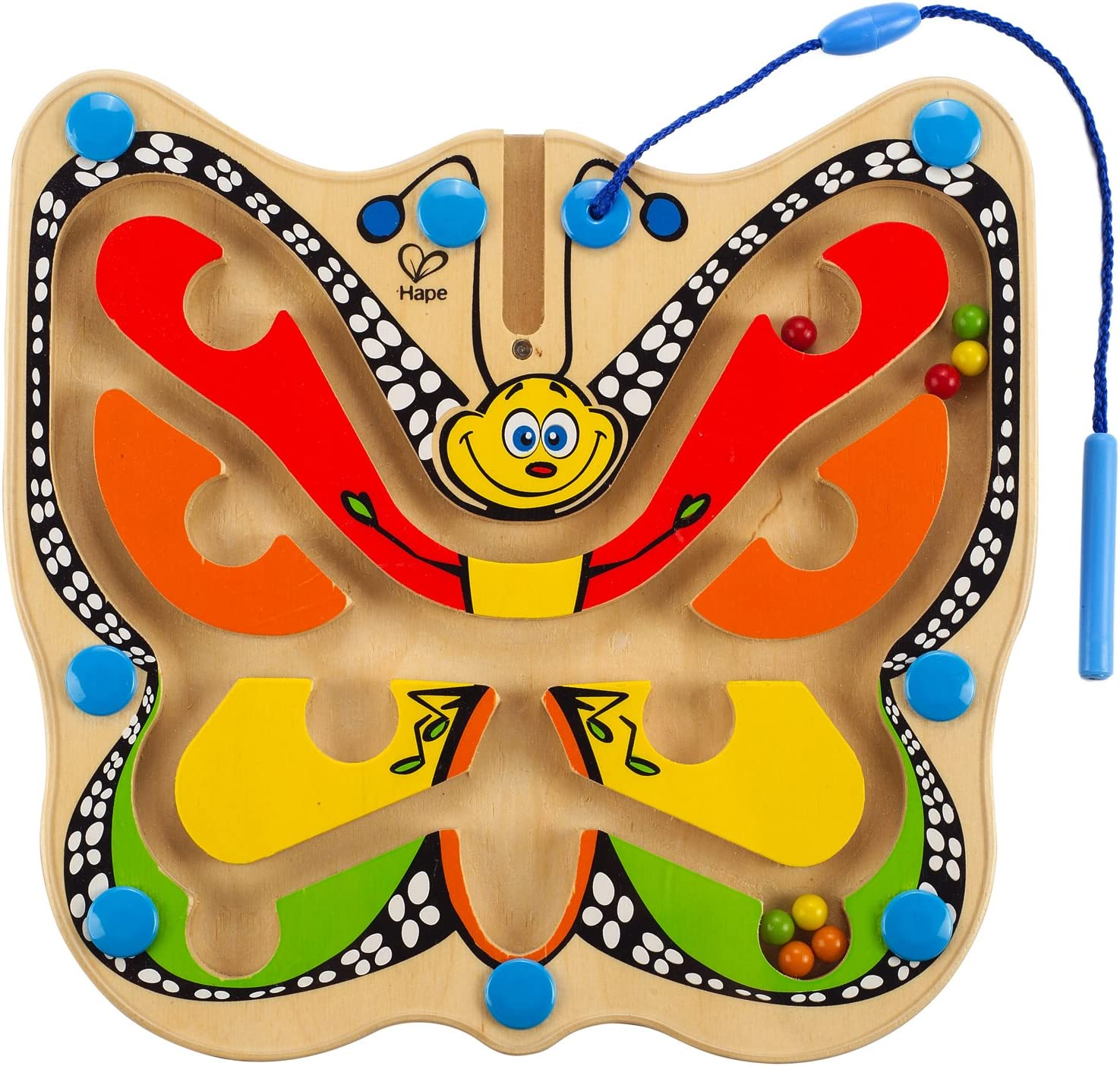 Award Winning Price reduction Hape Color Flutter Butterfly Wooden Kid's Direct stock discount Magnetic