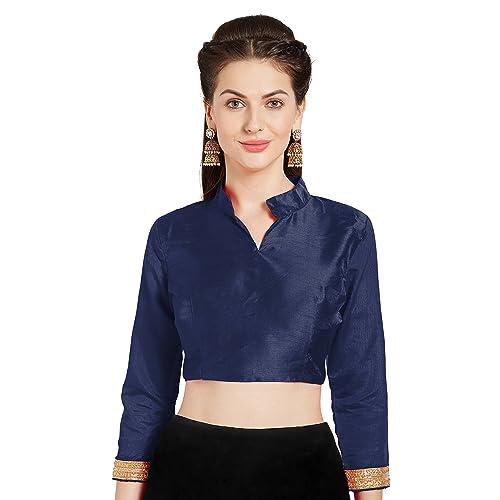 5a1e1a0d32c89 Women s Art Silk Readymade Saree Blouse Choli Mirchi Fashion Top