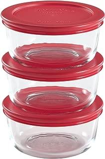 Pyrex 6-Piece 2-Cup Glass Food Storage Set with Lids
