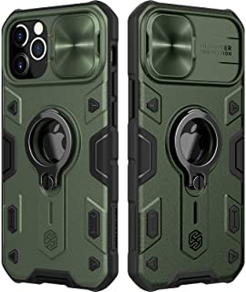 Nillkin Case Compatible with iPhone 12 Pro Max Case [2021 [Slider Camera Cover] [Ring Kickstand] CamShield Military Grade ...