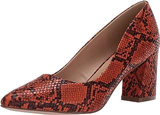 حذاء نسائي مطبوع Penny Loves Kenny ، ثعبان صناعي برتقالي ، عرض 8 أمريكي