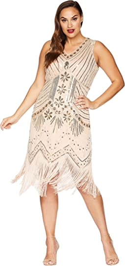 Plus Size Veronique Fringe Flapper Dress