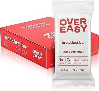 OVER EASY Apple Cinnamon Breakfast Bars | All Natural, Clean Ingredient, 9g Protein & 7g Fiber Breakfast Bars (Apple Cinna...