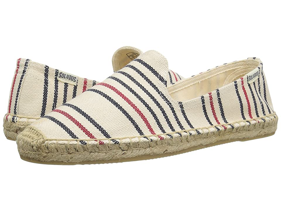 Soludos Striped Smoking Slipper (Red/Navy/Natural) Women