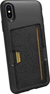 Smartish iPhone Xs Max Wallet Case - Wallet Slayer Vol. 2 [Slim Protective Kickstand] Credit Card Holder for Apple iPhone 10S Max (Silk) - Black Tie Affair