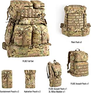 Akmax.cn Military FILBE Army Tactical Rucksack Multicam