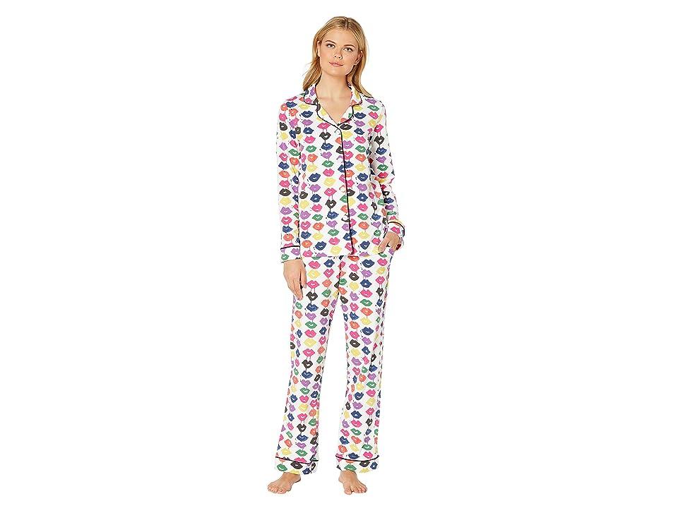 BedHead Pajamas Long Sleeve Classic Notch Collar Pajama Set (Sealed with A Kiss) Women