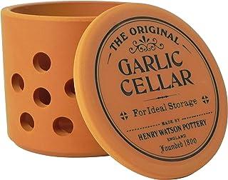 Garlic Keeper in Terracotta, Made in England, by Henry watson