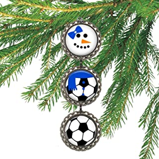 Girl's Soccer Bottlecap Christmas Ornament