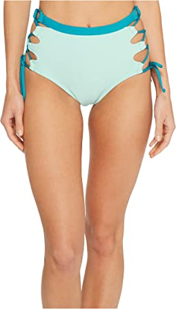 Splendid - Color Block High-Waist Bikini Bottom