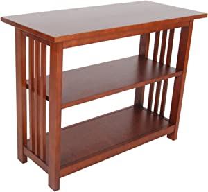 Mission Under Window Bookshelf with 2 Shelves, Cherry