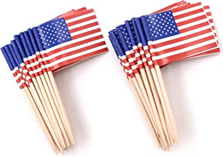 886b7f9e2d57 Zicome 200 Pack US Flag Picks Patriotic Flag Food Toothpicks Party  Accessory Party Favors