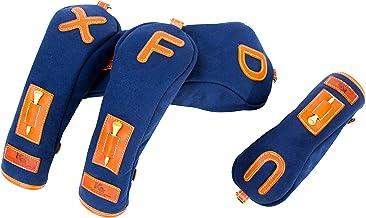 K& HC-TEE-PICT ヘッドカバーセット バケッタレザー (fieno) × 帆布 (ネイビー色) レザー×キャンバス
