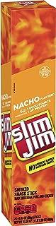 Slim Jim Giant Smoked Meat Sticks, Nacho Flavor, Keto Friendly, 0.97 oz. 24-Count