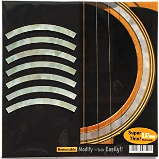 Inlay Sticker Decal Acoustic Guitar Purflinng Sound hole In MOP Theme - Rosette Strip /WT