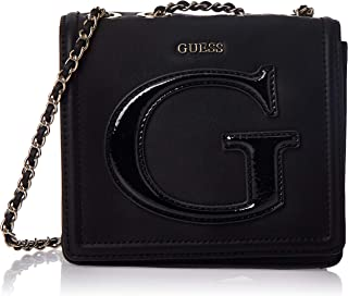 GUESS Womens Mini Crossbody Flap Bag, Black - PG744078