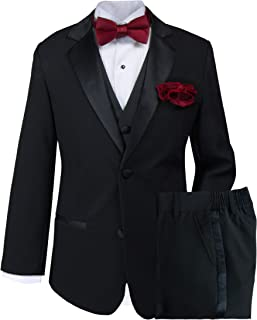 Spring Notion Little Boys' Tuxedo Set with Bow Tie and Handkerchief