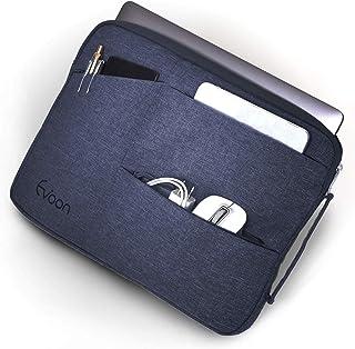 Evoon パソコン ケース ノートパソコン ケース 15-16インチ 防水/衝撃吸収/多機能 MacBook Pro 15 16/ dell インナーバック PCケース PCバッグ パソコンバッグ (15.6inch ネイビー)