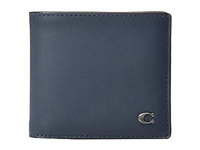 COACH Double Billfold in Signature Hardware (Blue) Bill-fold Wallet