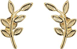 14KT Yellow Gold Leaf Climber Earrings