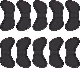 Hotop 5 Paia Tacco Adesivo Tacco Cuscino del Tallone Grip Liner Scarpa Cushion Pad Adesivi Protezione per Cura di Piede, Nero
