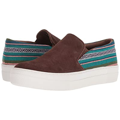 Roper Darcy (Brown Suede Leather Vamp/Woven Stripes) Women