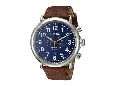 Shinola Detroit The Runwell Chrono 47mm 10000047 (Blue/Dark Brown) Watches