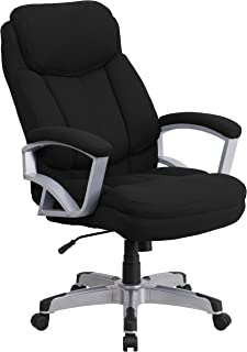 Flash Furniture HERCULES Series Big & Tall 500 lb. Rated Black Fabric Executive Swivel Chair with Arms