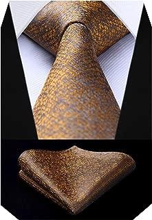 Hisdern Herren Krawatte Hochzeit Check Krawatte & Einstecktuch Set