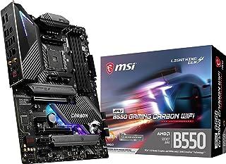 MSI MPG B550 Gaming Carbon WiFi Gaming Motherboard (AMD AM4, DDR4, PCIe 4.0, SATA 6Gb/s, Dual M.2, USB 3.2 Gen 2, HDMI/DP,...