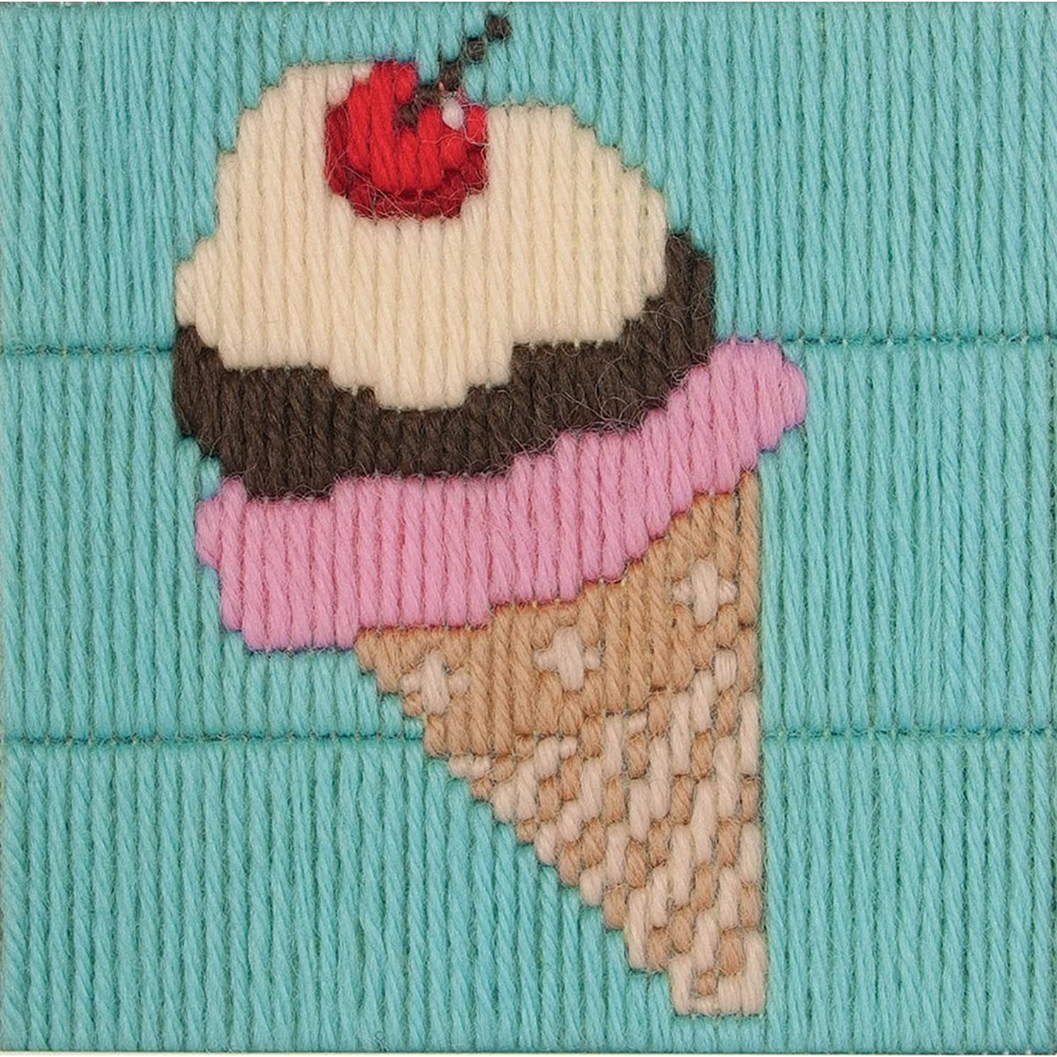 1st Kit Ice Cream Cone Long Stitch Kit-4