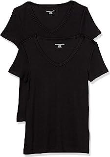 Women's 2-Pack Slim-Fit Short-Sleeve V-Neck T-Shirt