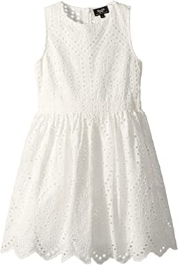 Henley Broderie Dress (Big Kids)