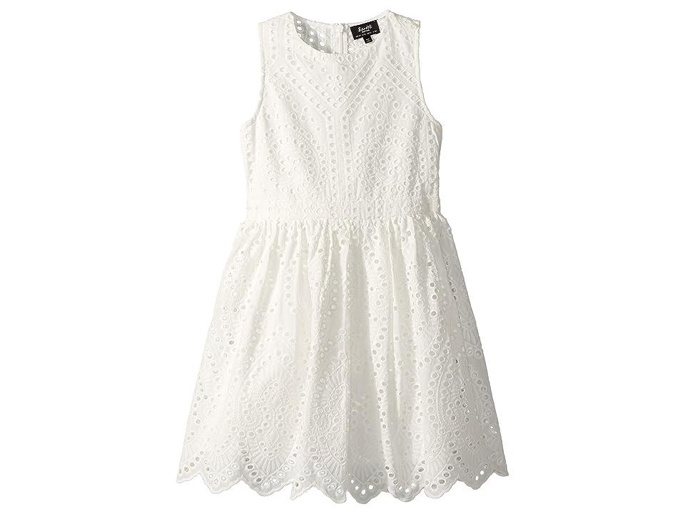 Bardot Junior Henley Broderie Dress (Big Kids) (Ivory) Girl